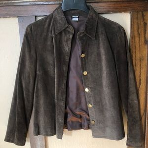 Jackets & Blazers - Very soft suede jacket with brass buttons.